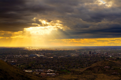 sunset sky storm clouds canon surreal sigma stormy idaho boise 7d sunrays hdr sunbeams lightrays tablerock photomatix 1750mm treasurevalley