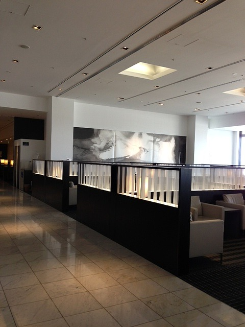 <p>a)ANA成田のラウンジです。<br /> 成田には2か所のラウンジがある。ここは初めて入ったラウンジ!</p>