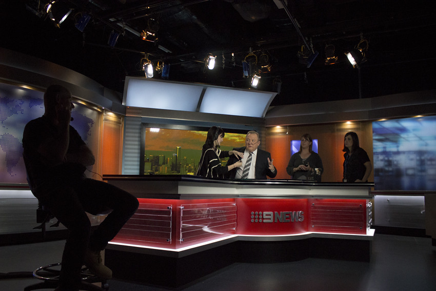 2 - Channel 9 News Studios Melbourne | The Floor Manager, di