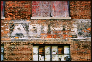 "Sign: ""Trading,"" Globe Trading Company Building (Formerly Detroit Dry Dock Company)--Detroit Mi"