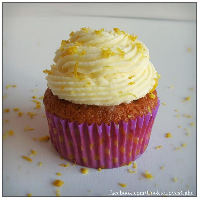 rose & lemon cupcake