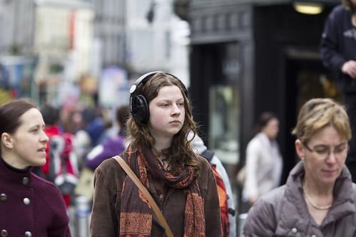 street ireland portrait music irish galway beauty candid headphones apart fullard frankfullard