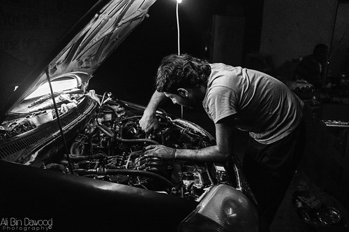 Night mechanic | by A.A.Bindawood