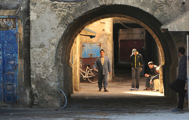 Passing Time in Essiouria, Morocco