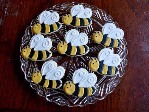 Bumble Bee Baby Shower Cookies | by kelleyhart