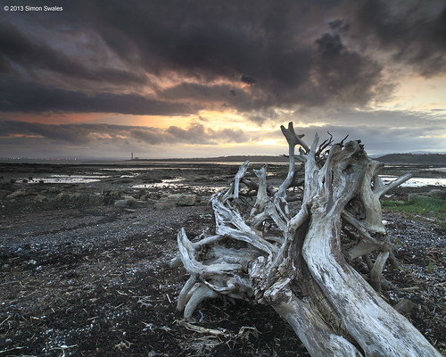 sunset station clouds coast scotland power fife driftwood coastal northsea weathered firthofforth longannet bythesea scottishpower leefilters crombiepoint canoneos5dmkii distagon2128ze distagont2821ze