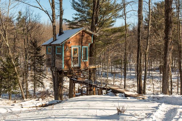 The Tiny Fern Forest Treehouse - Lincoln, VT - 2013, Feb - 05.jpg