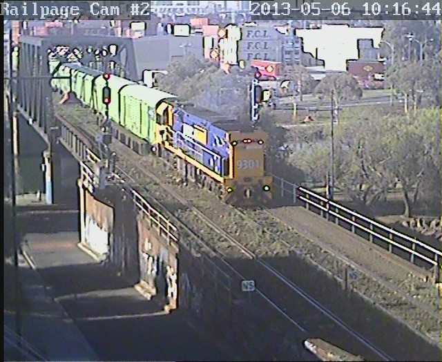 9301 Sadleirs Transfer to Sadleirs, Spotswood, ex Dynon MFT 6-5-2013 by Railpage Bunbury Street