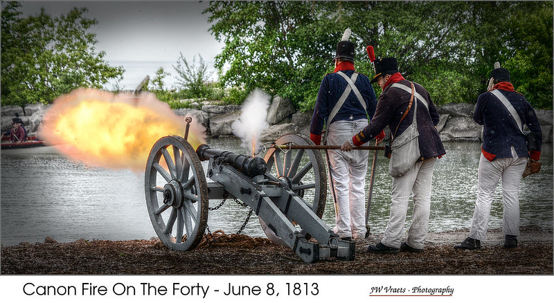 Canon Fire On The Forty – June 8, 1813  - (HDR/Tone-Mapped)