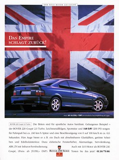"""1993 Rover 220 Coupe (German ad) """"The Empire Strikes Back"""""""