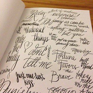 Hand done #type practice. Script. #art #drawing | by LindsayJuneNohl