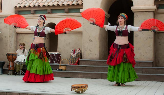 Ghazaal Beledi dancer at the 2012 Arizona Renaissance Festival