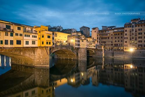 bridge italy sunrise river florence italia ponte firenze arno pontevecchio vecchio