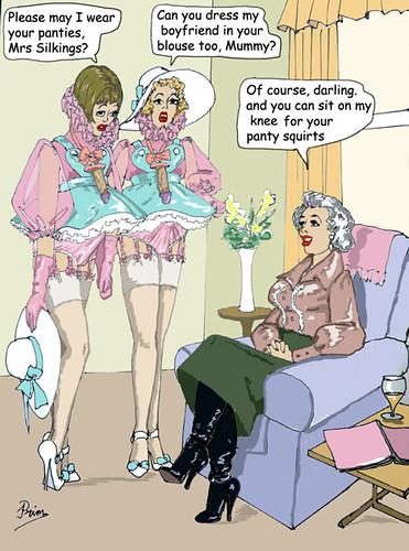 Sissy spanking captions