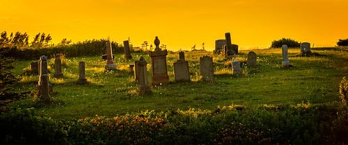 2391 canada cemetary graves locationrecorded manipulations northumberlandshore novascotia scenic sunset seafoam