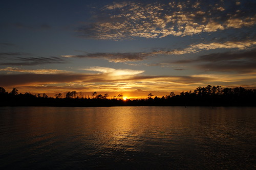 sunset cloudsstormssunsetssunrises spectacularsunsetsandsunrises northwestcreek northcarolina clouds water creek