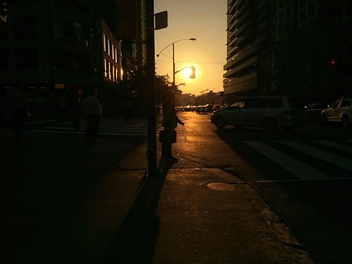 sunsetsilhouettecitybuildingtorontobusinessmanshadow
