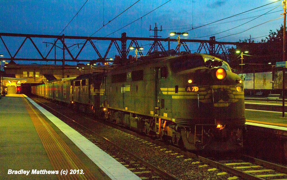 A79-A81 on #9462 up Maryvale Paper Train at Sth Yarra (21/4/2013) by Bradley Matthews