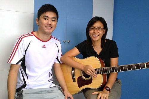 1 to 1 guitar lessons Singapore Nicole