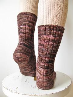 Lichen Ribbed Sock #2