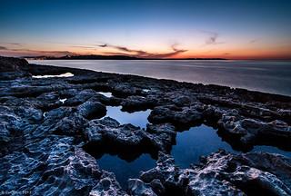 Evening landscape on Malta