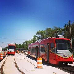 Streetcars #1 and #2 on site