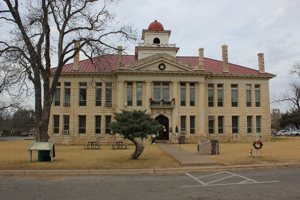 Blanco County Courthouse Johnson City Texas Date