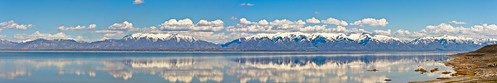 sky panorama usa lake mountains reflection nature clouds landscape utah spring ut panoramic antelopeisland greatsaltlake daviscounty wasatchmountains 2013 stichedpanorama