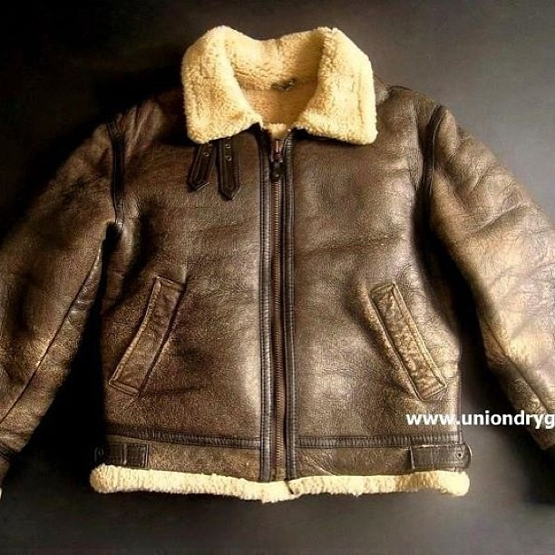 info for 15746 3c86f ... Vintage B3 Leather Shearling Bomber Jacket by The Source, now available  at www.facebook