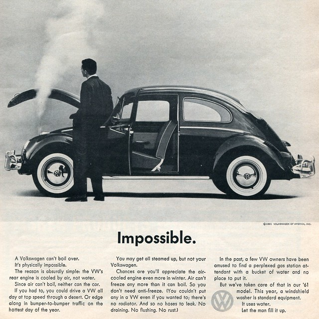 1961 Volkswagen Advertisement Car and Driver August 1961