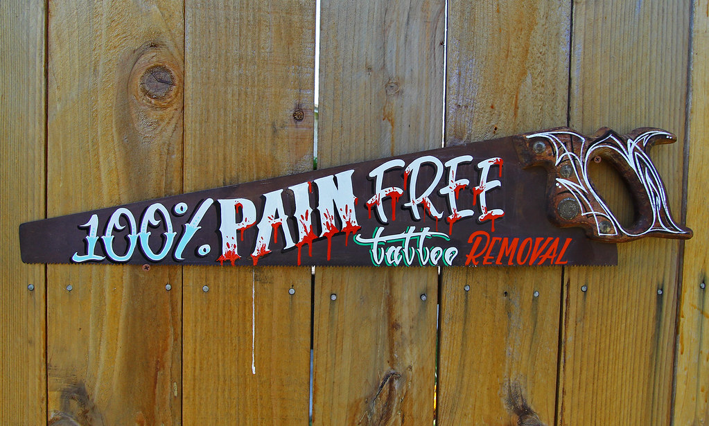 100% PAIN FREE TATTOO REMOVAL | Hand Painted by yours truly.… | Flickr