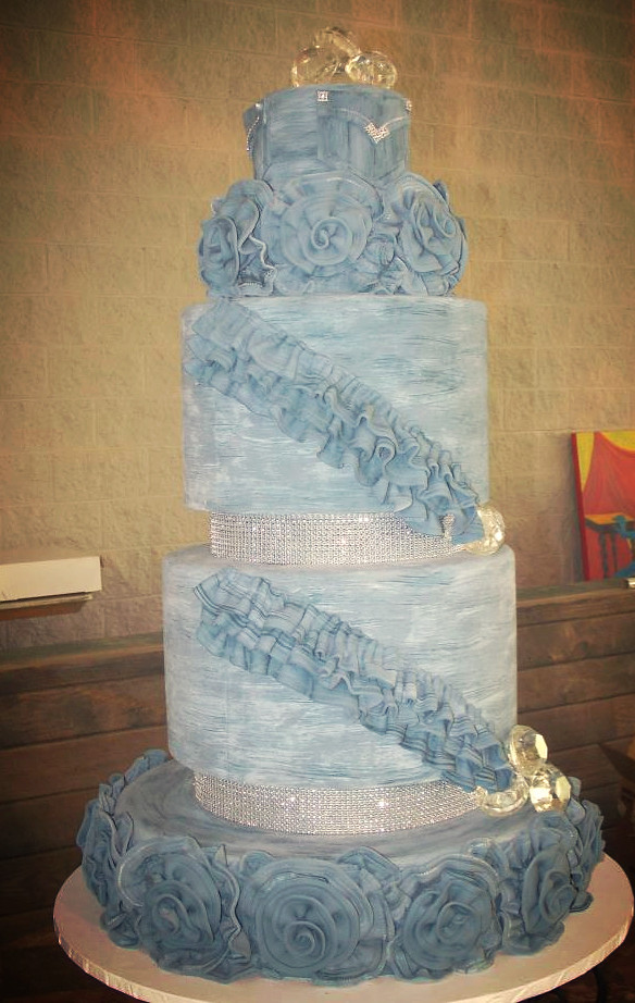 Denim And Diamonds Cake Faux Finished Denim Look To All