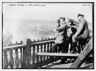 German Officers in Upper Castle, Vilna  (LOC)