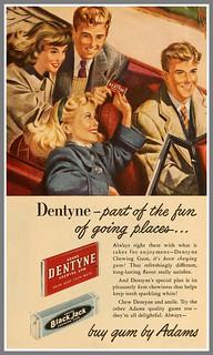 1948 DENTYNE GUM AD