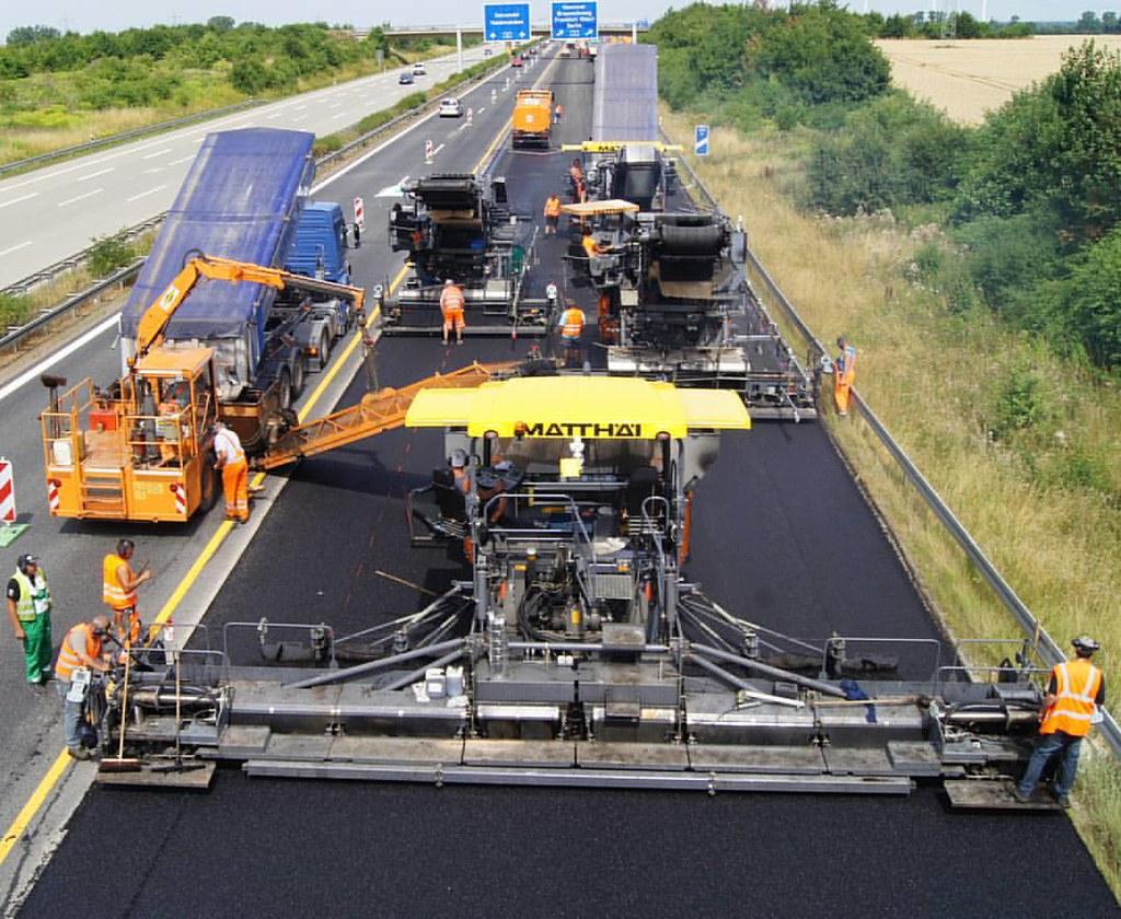 Road Construction - Asphalt paving   Civil Engineering