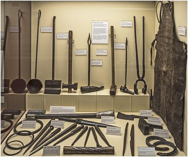 Scottish Mining Museum blacksmiths and ropemens tools