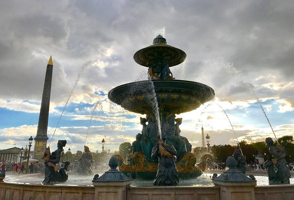 Fontaine de la place de la Concorde à Paris