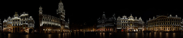 Grand Place by Night 360 degrees Panorama  ~explored~