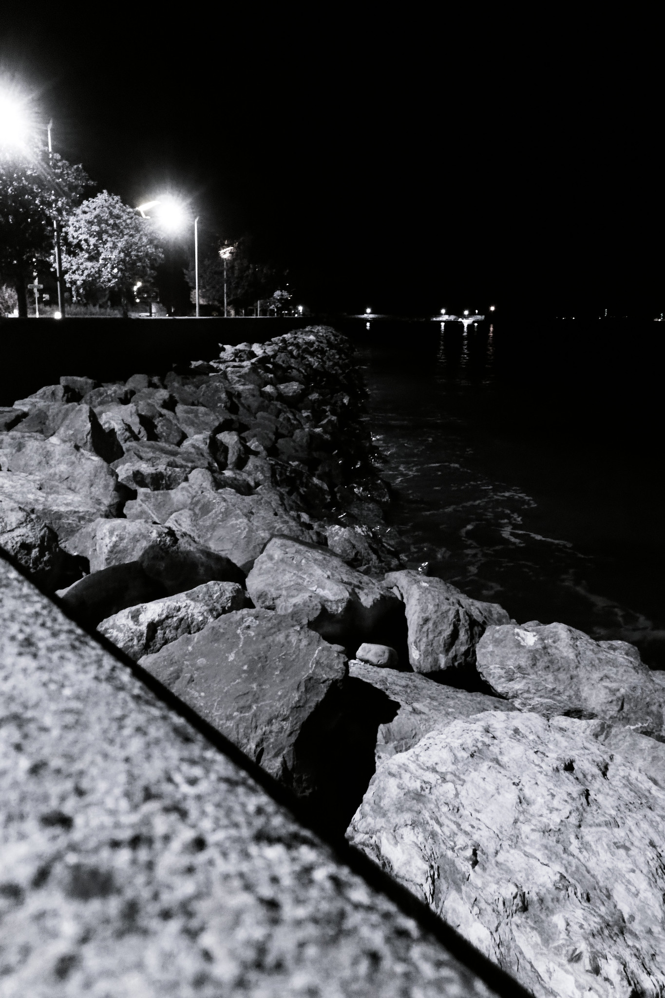 Sea Wall By Night