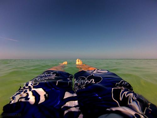 ocean gulfofmexico water swimming toes legs florida horizon floating tranquility bluesky naplesflorida swimtrunks swfl gopro hero3 vanderbiltbeach northnaples