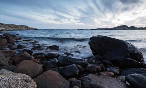 beach rocks rock stone water waterscape sea seascape longexposure styrsö sweden swedishwestcoast canoneos6d evening summer2016 outdoor scandinavia