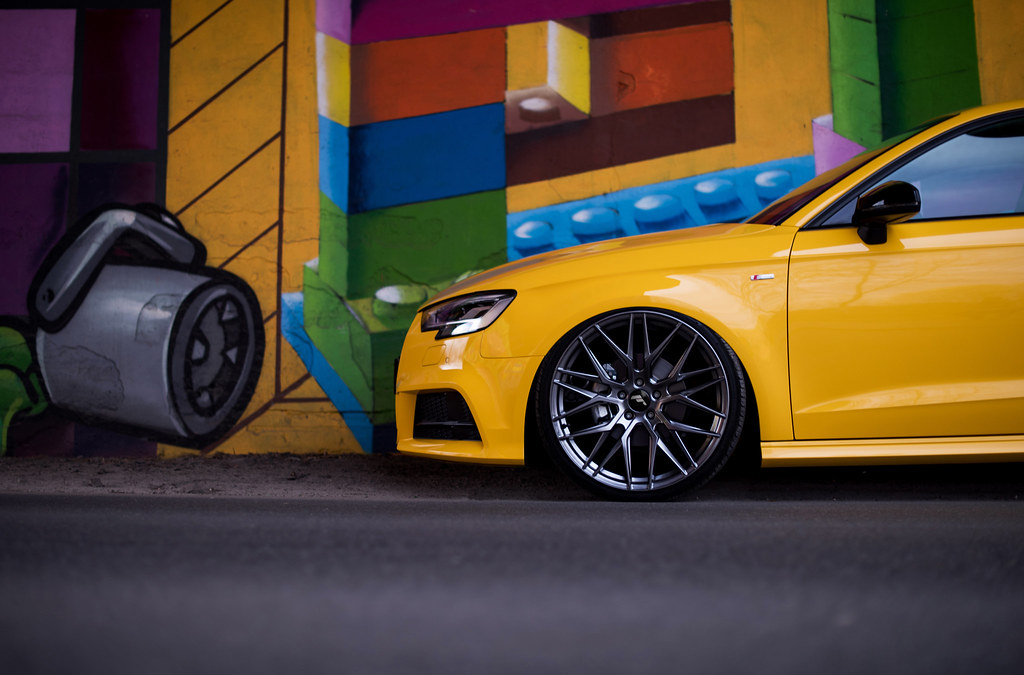 Audi A3 | JR28 Hyper Black | JR-Wheels | Flickr