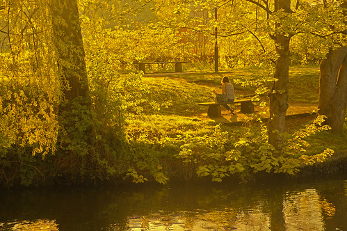 norfolk uk norwich river wensum sunset girl book reading andreapucci