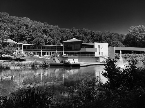parkschool pikesville maryland buildings ponds mono bw hss cmwd topf25 iphone