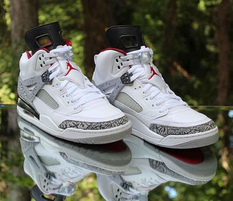 the latest 645e2 94ef0 ... Jordan Spizike White Cement Grey Varsity Red 315371-122 Size 11   by  reddealsonline