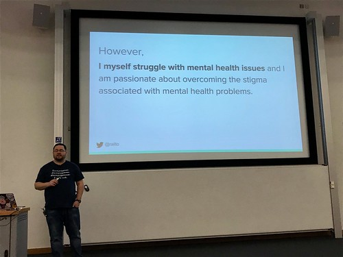 Mark, speaking on mental health issues | by akrabat