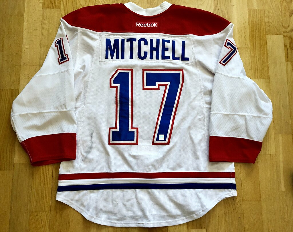 superior quality 49551 60f2b TORREY MITCHELL GAME WORN JERSEY 2015 - 2016 MONTREAL CANA ...
