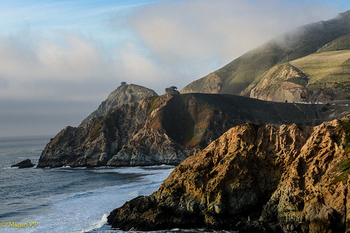 cliffs california bunker ocean landscape historic