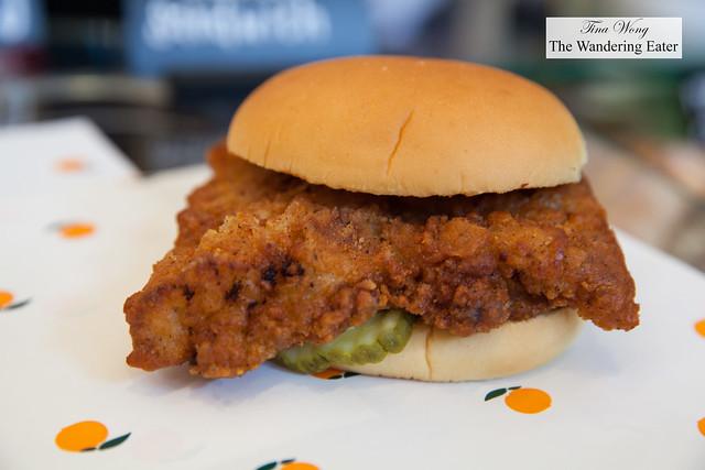 Fuku fried spicy chicken sandwich by Chef David Chang