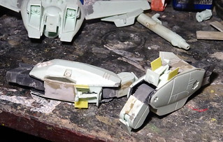 """1:100 Stonewell/Bellcom VF-1JS Super Valkyrie; """"200"""" of the U.N. Spacy SVF-124 'Moon Shooters' Fighter Squadron; Lunar 'Apollo' Base, 2012 (ARII kit conversion) - WiP 